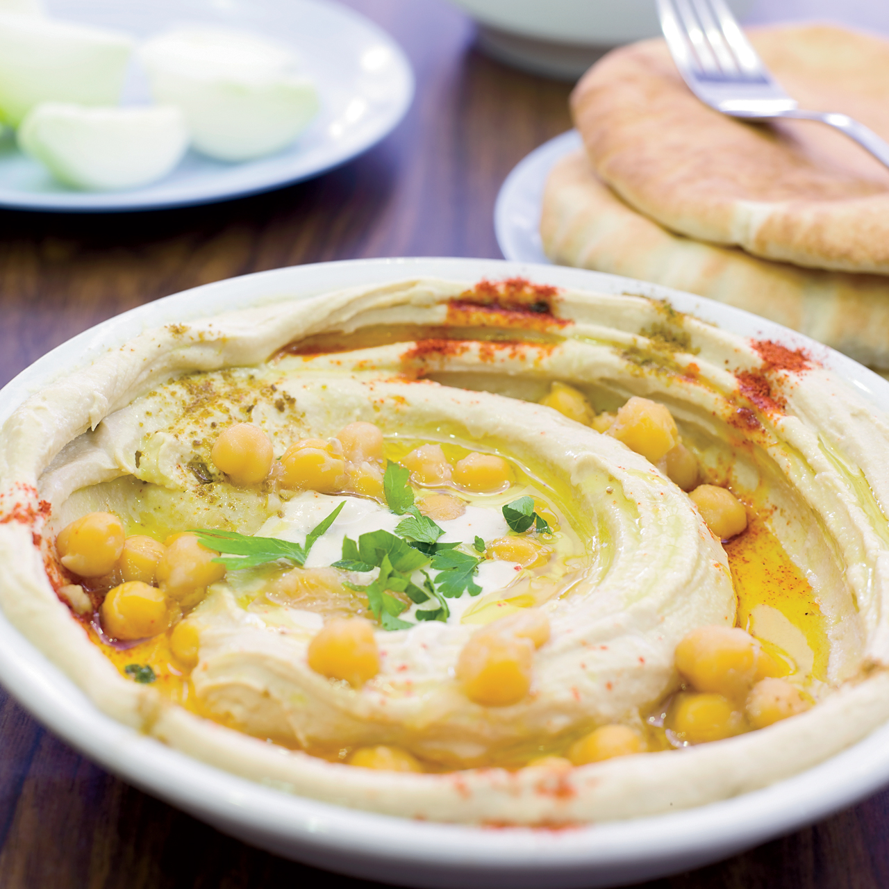 Michael Solomonov's Israeli Hummus with Paprika and Whole Chickpeas.