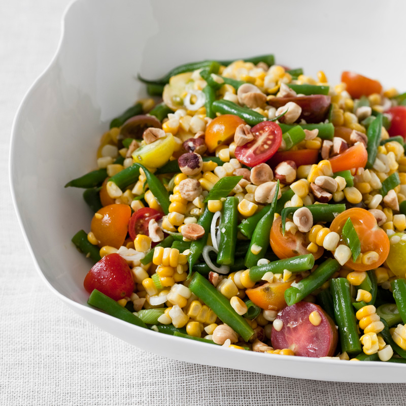 Sweet Corn Salad with Green Beans and Hazelnuts Recipe - Jeremy ...