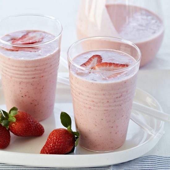 Strawberry, Banana and Almond Butter Smoothie