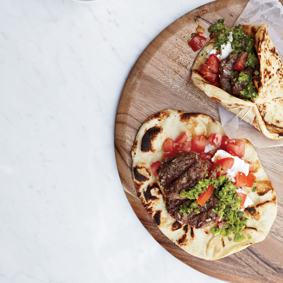 Lamb Burgers with Green Harissa