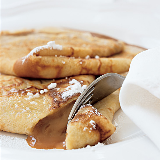 Crêpes with Creamy Caramel