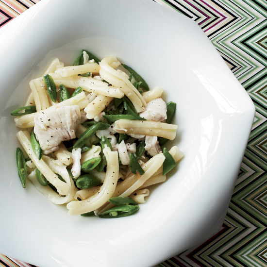 Casarecce with Spicy Skate and Snap Peas
