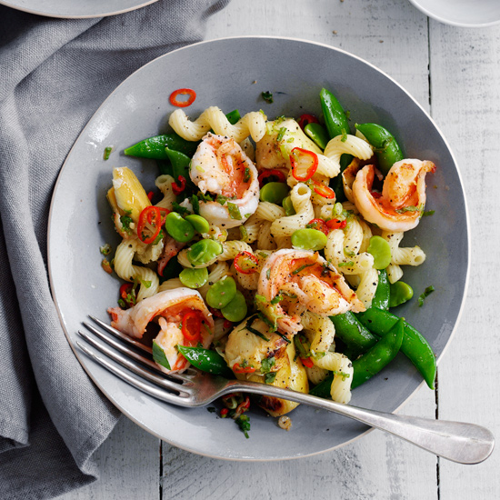 HD-201304-r-cavatappi-with-shrimp-sugar-snaps-and-artichokes.jpg