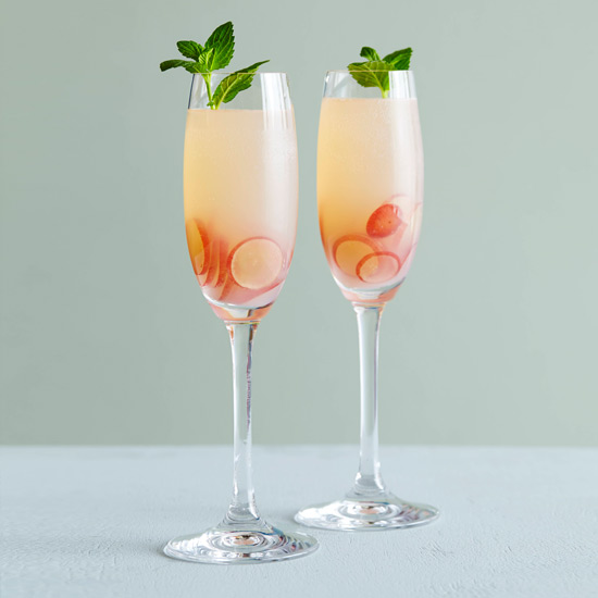 New year 39 s sparkling wine cocktails food wine for Champagne mixed drinks