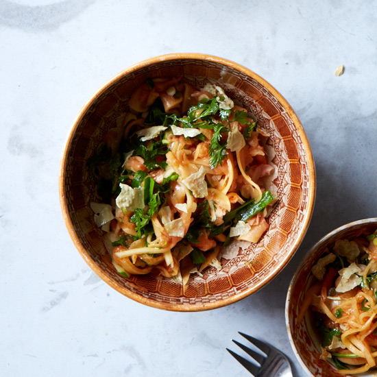Green Papaya Salad with Curry-Lime Dressing