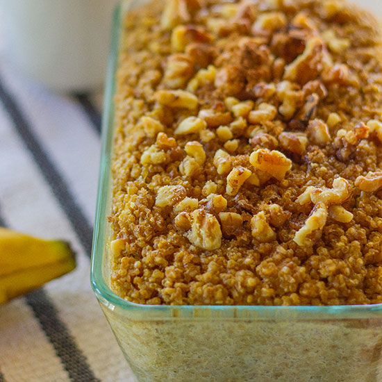 Banana-Walnut Baked Quinoa and Oatmeal