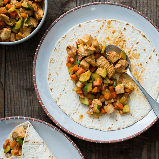 Chicken Burrito with Vegetables
