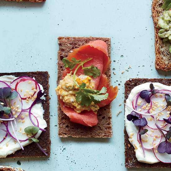 Smoked Salmon and Preserved Lemon Tea Sandwiches