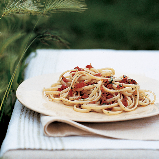 Lazy Linguine with Cherry Tomatoes and Herbs