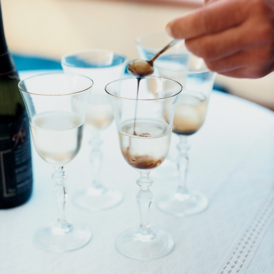 Prosecco-Saba Cocktail