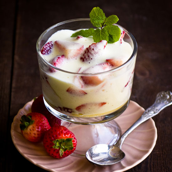 Zabaglione with Strawberries