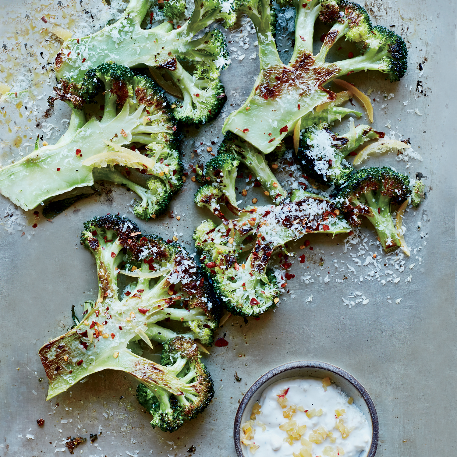 Broccoli with Preserved Lemon Yogurt