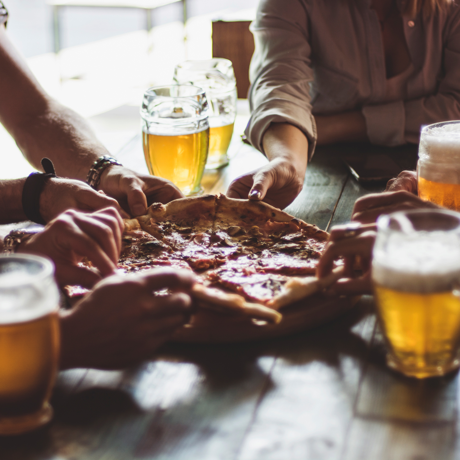 Eating in Groups Makes Pizza Better