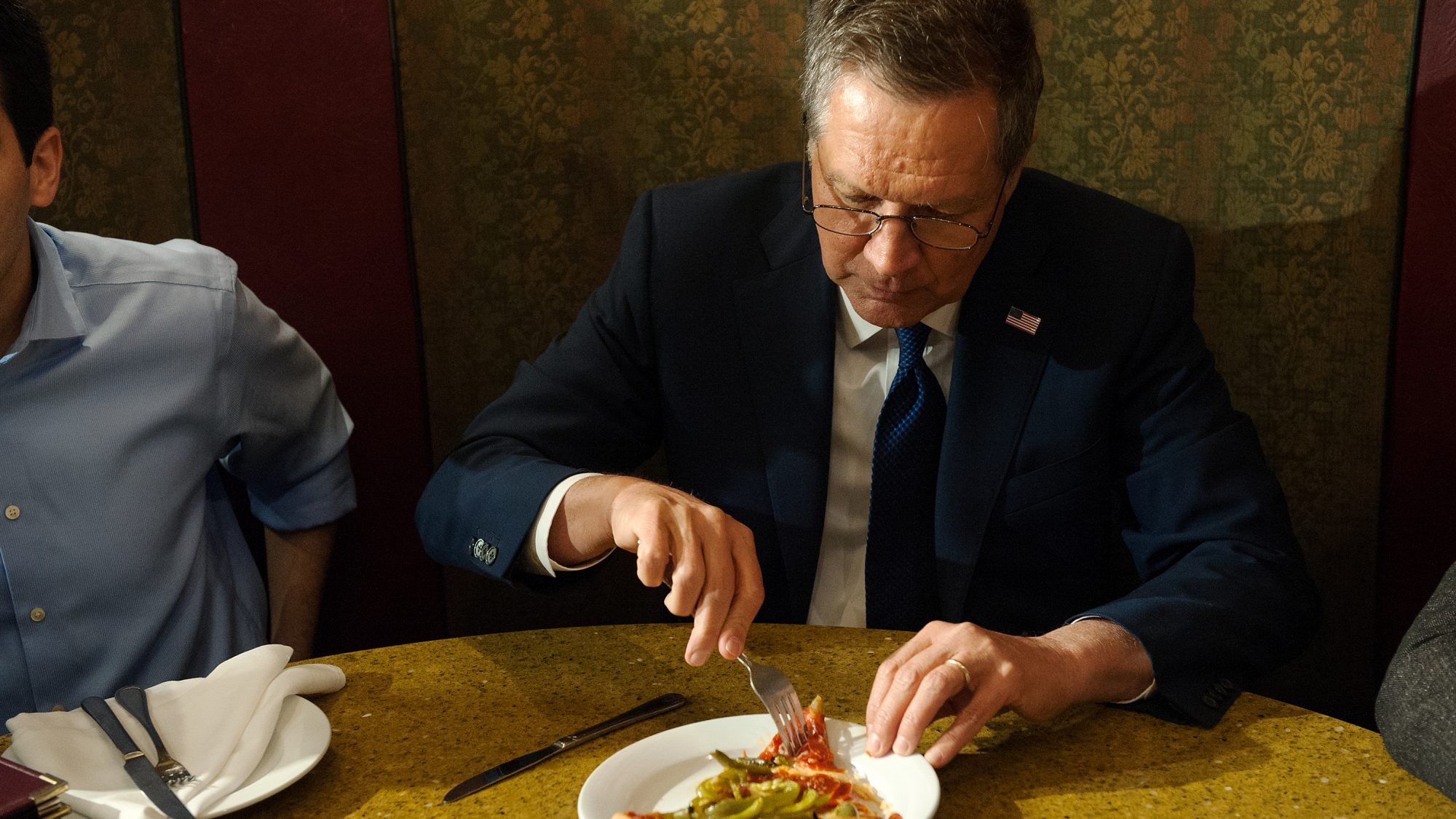 John Kasich Eating Pizza