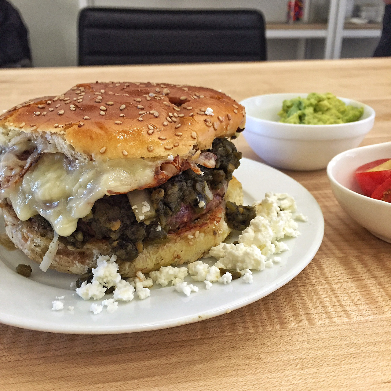 The Brilliant New Green Chile Cheeseburger at Mission Cantina