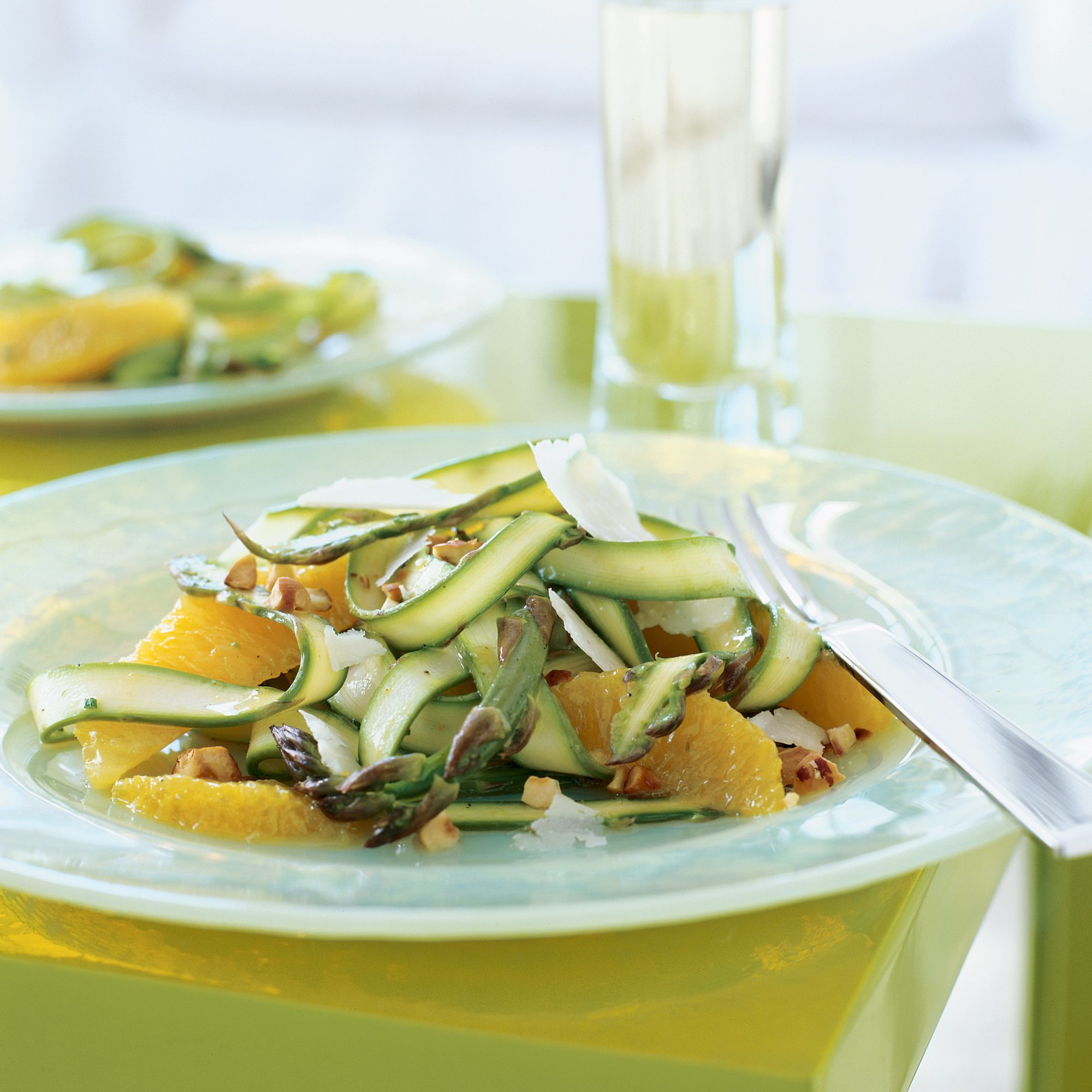 Shaved Asparagus Salad with Oranges and Pecorino