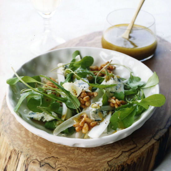 Arugula-Endive Salad with Honeyed Pine Nuts