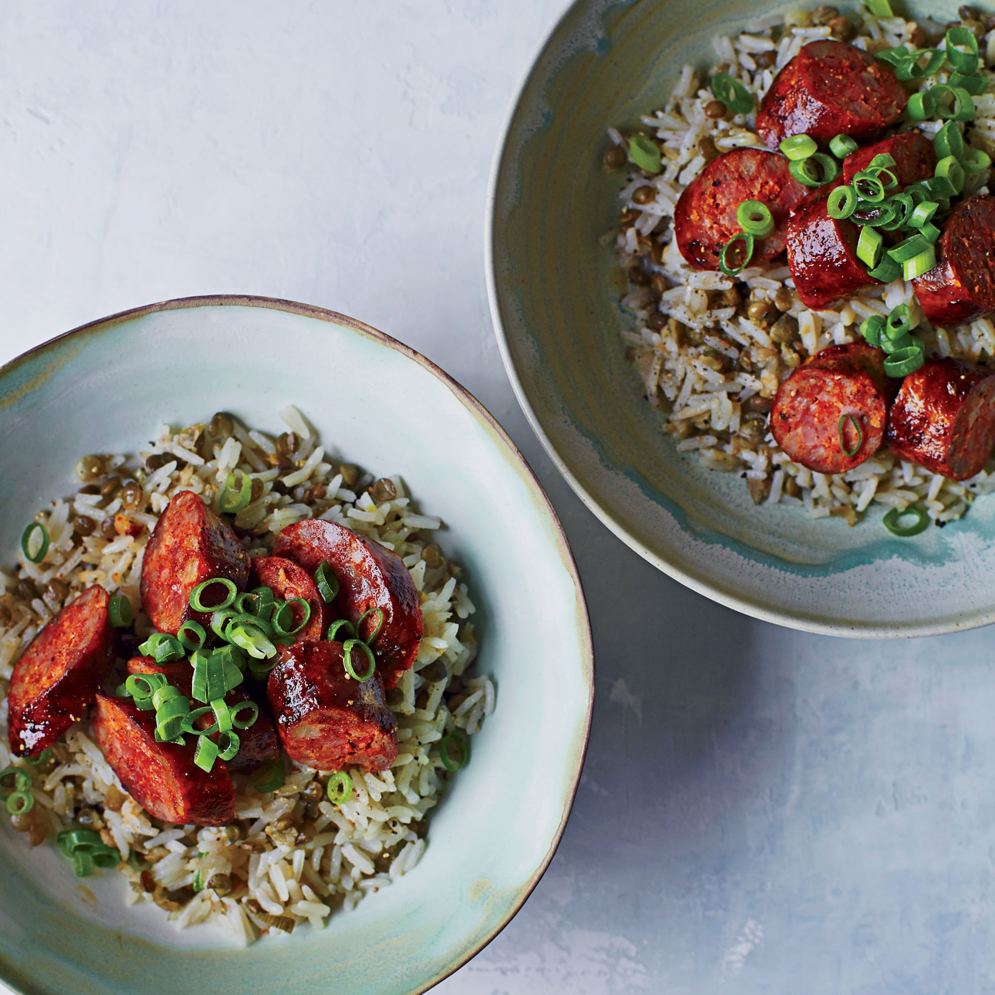 Chorizo with Rice and Lentils