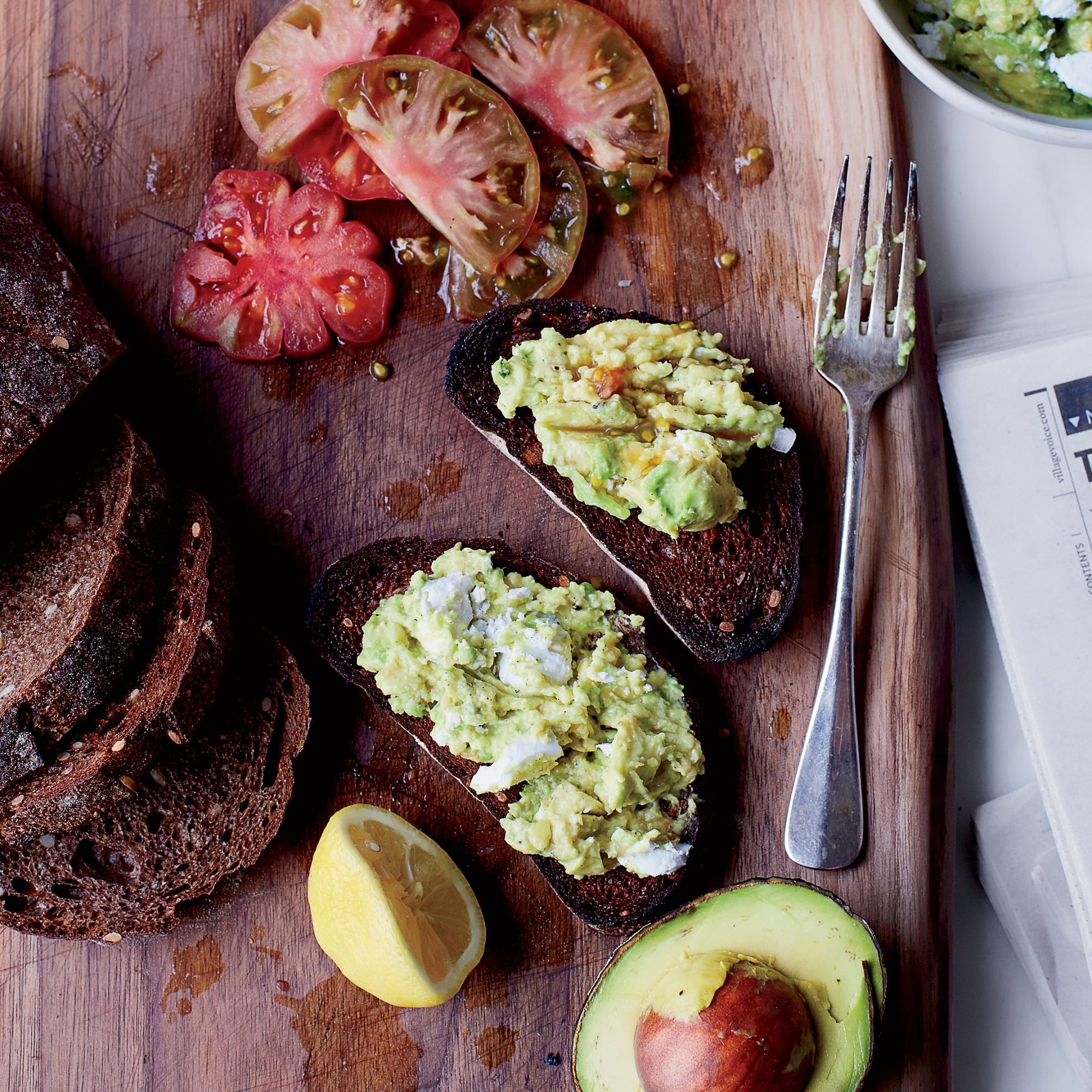 Goat Cheese and Avocado Toasts