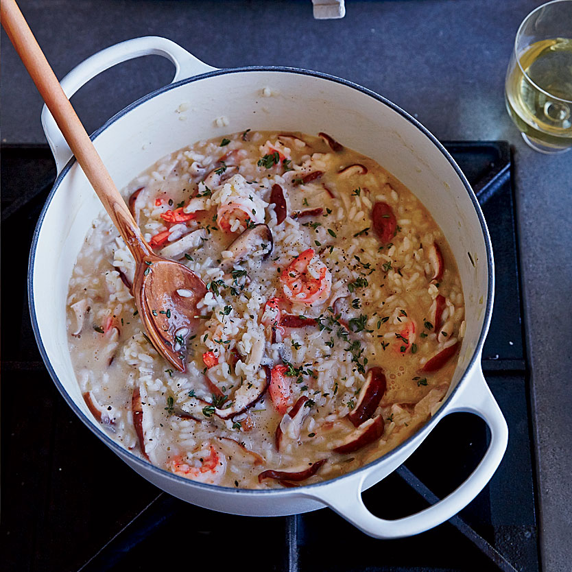 Shrimp and Wild Mushroom Risotto