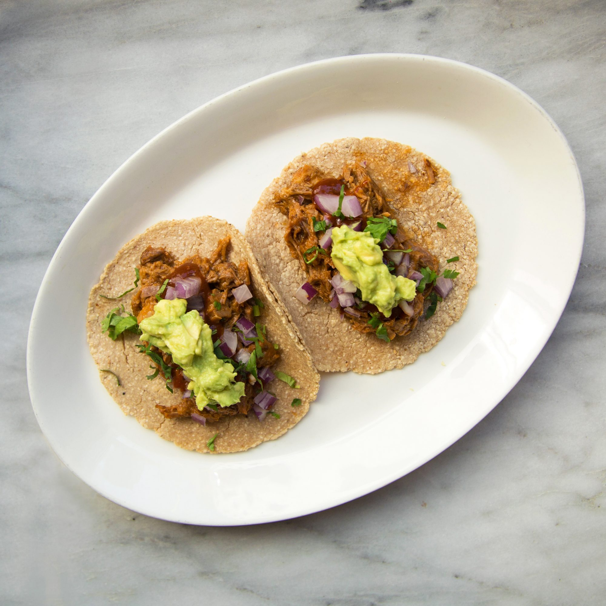 Braised Brisket Tacos with Matzo Tortillas