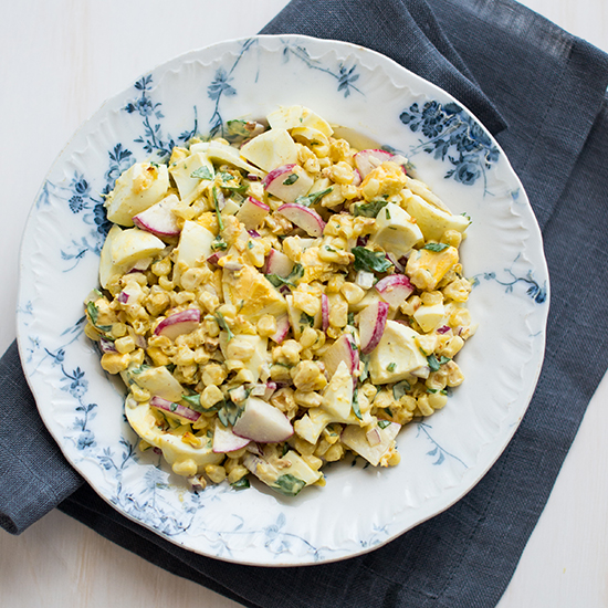 Roasted Corn and Egg Salad