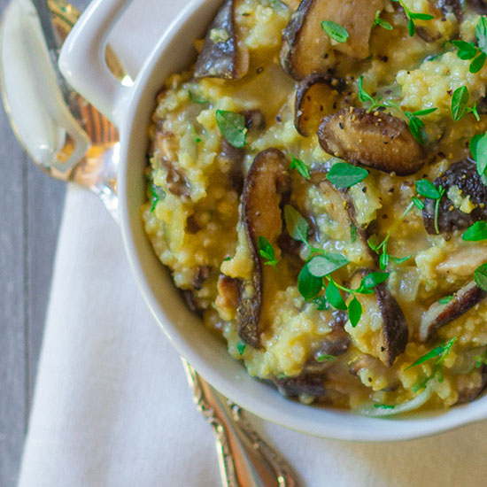Truffled Millet Porridge with Wild Mushrooms