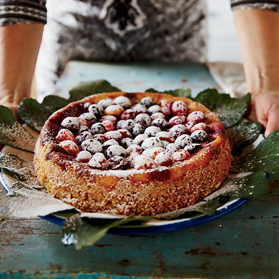 Almond Cake with Mixed Berries