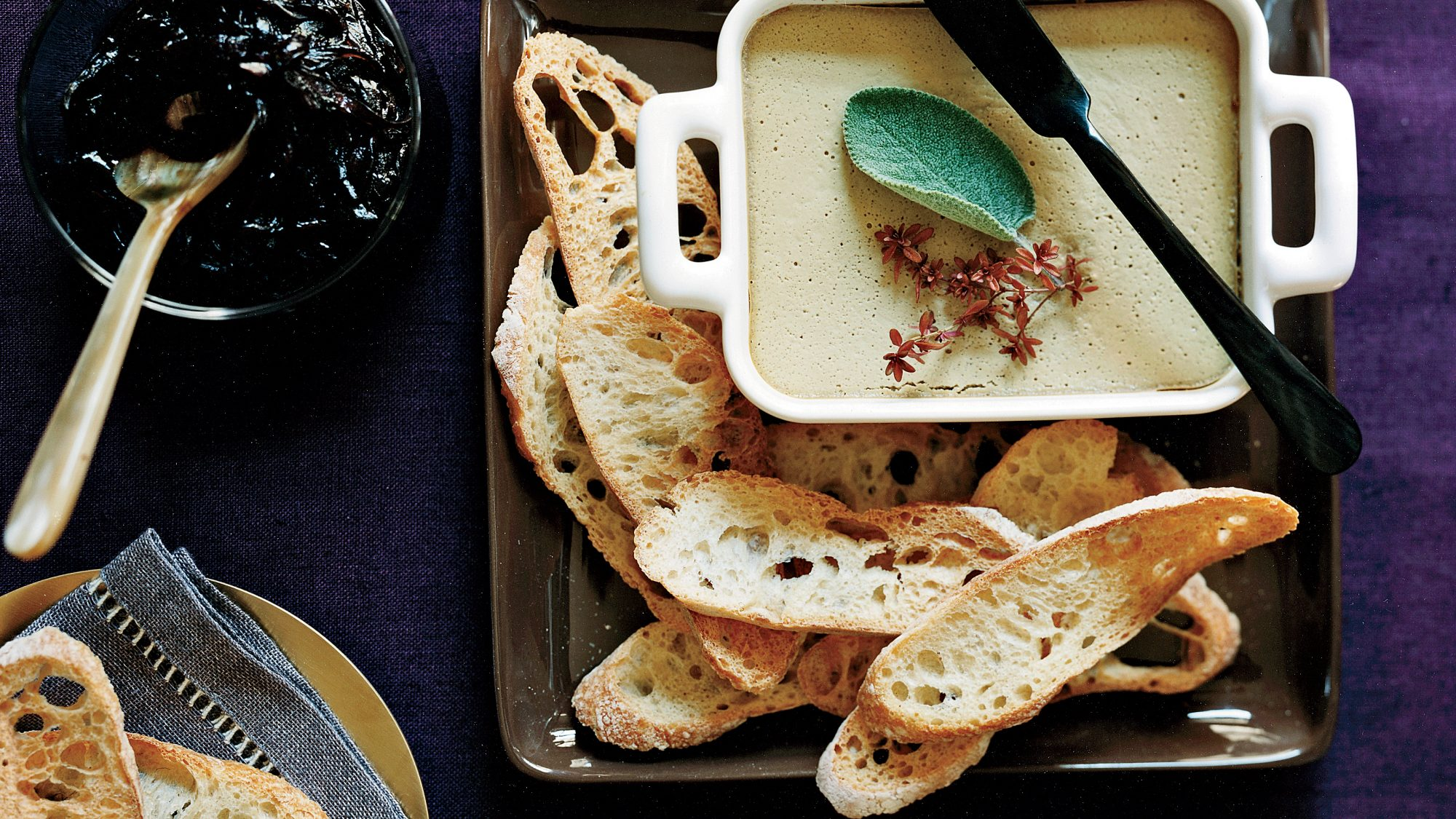 Chicken-Liver Mousse with Pickled Red Onion