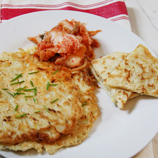 Korean Cabbage Pancakes