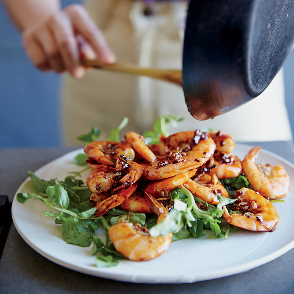 Sauteed Shrimp in Fish Sauce Caramel