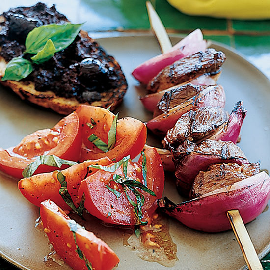 Grilled Lamb and Red Onion Skewers