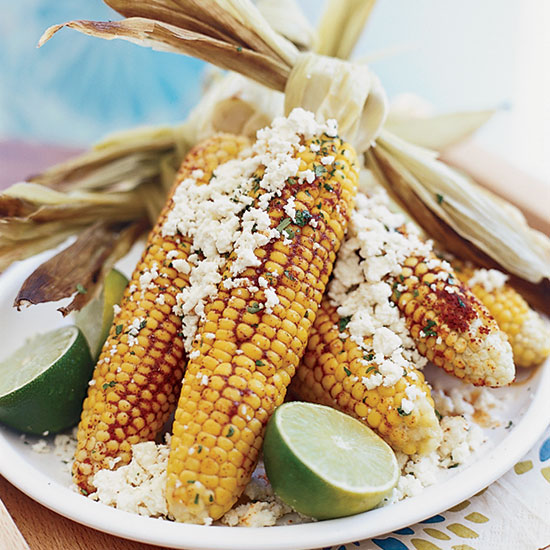 Grilled Corn with Queso Fresco and Lime-Tarragon Butter