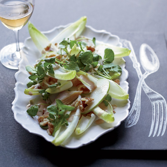Ancient Wine Techniques: Smoked-Trout Salad with Mustard Dressing