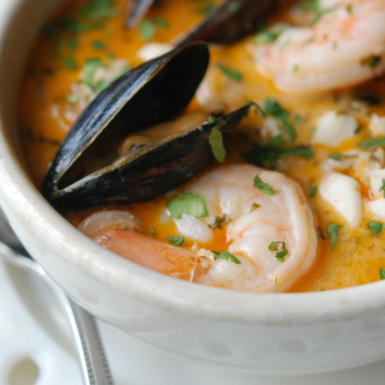 Brazilian Fish, Shrimp and Mussel Stew
