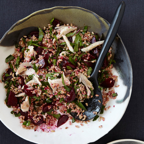 Farro Salad with Smoked Trout