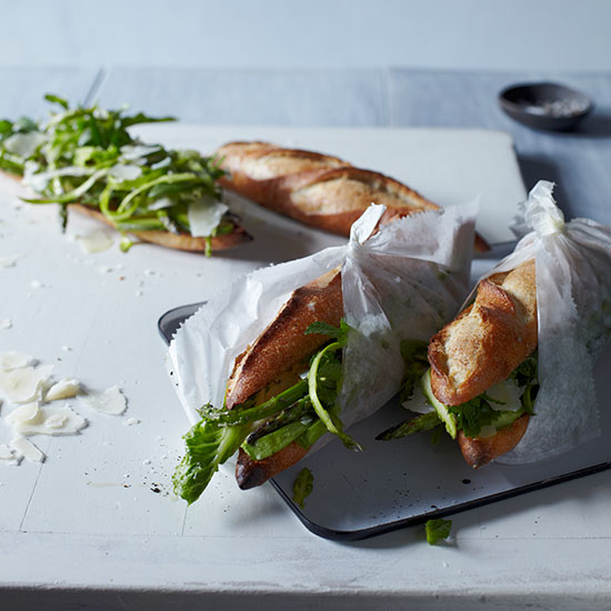 Asparagus & Aged Goat Cheese Sandwiches