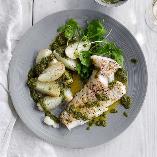 Catfish and Potatoes with Salsa Verde