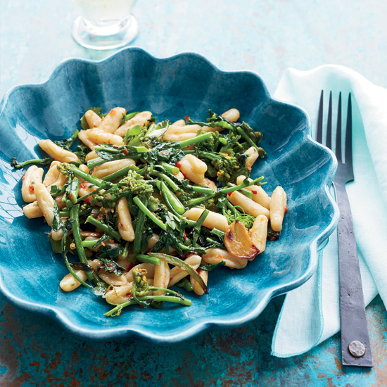 Cavatelli with Roasted Broccoli Rabe & Harissa