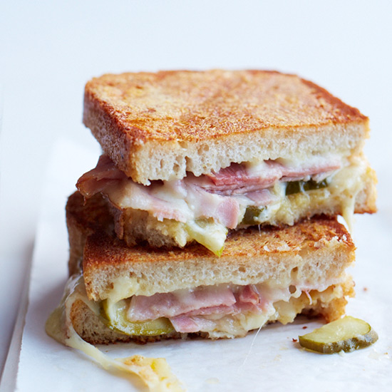 Inside-Out Grilled Ham-and-Cheese Sandwiches