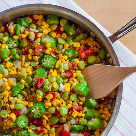 Pickled Okra Succotash