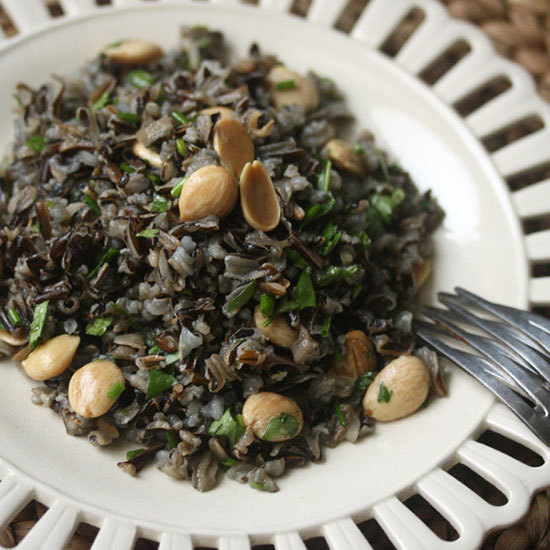 Wild Rice Salad with Marcona Almonds