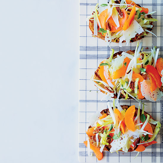 Endive-and-Apricot Tartines