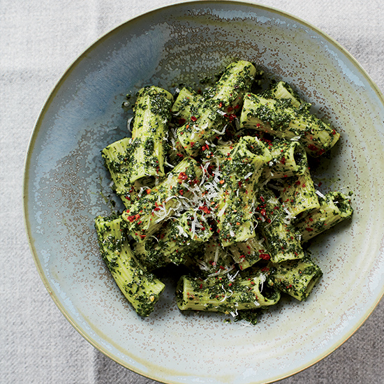 Chris Cosentino: Rigatoni with Lemony Kale Pesto
