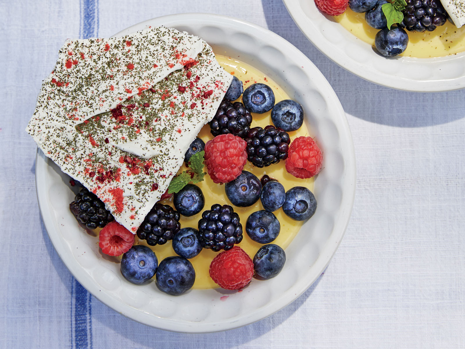 Berry Dust Meringues