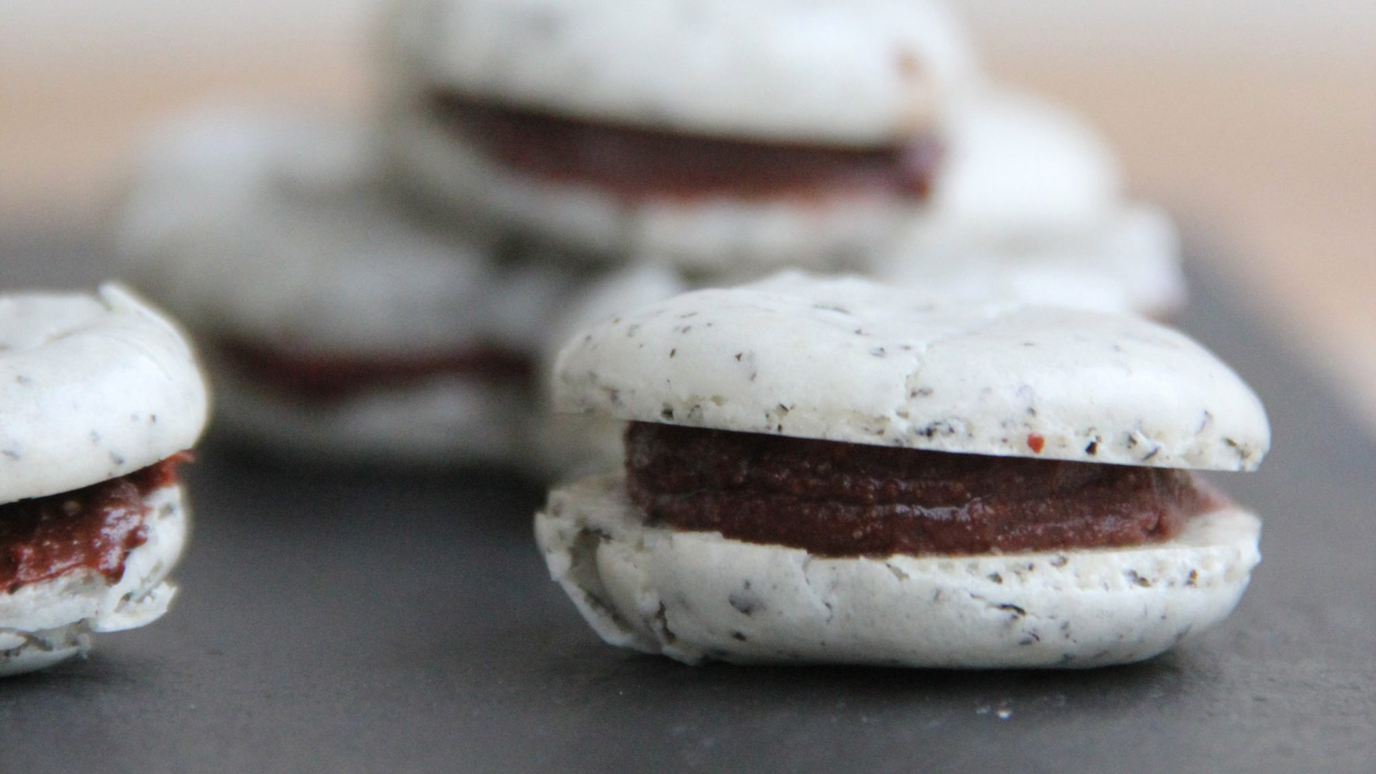 Chocolate Earl Grey Macarons