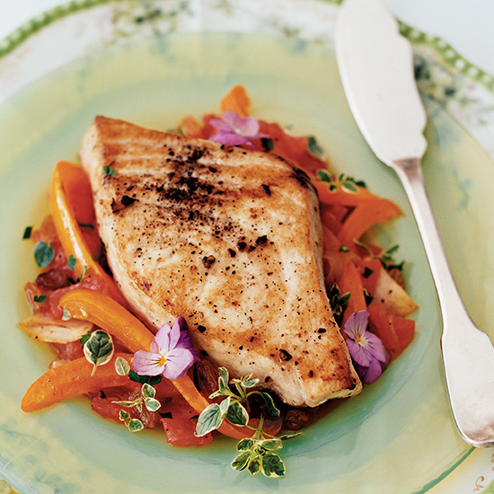 Sweet-and-Sour Swordfish