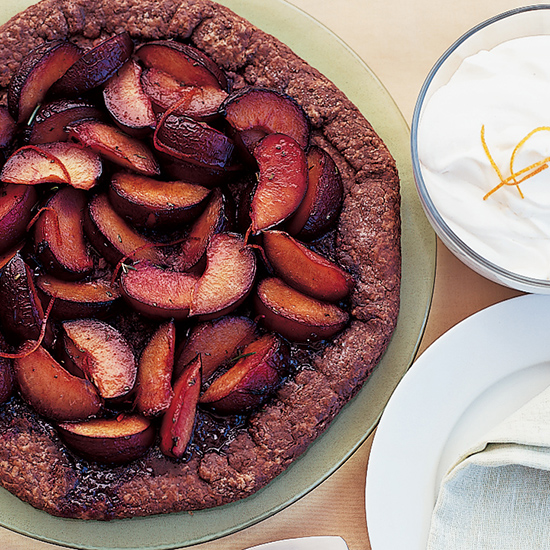 Chocolate-Crusted Plum Galette