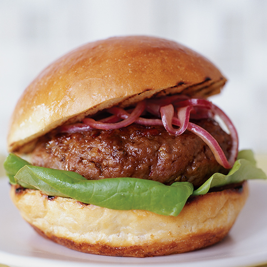 Pancetta-Beef Burgers with Horseradish Ketchup