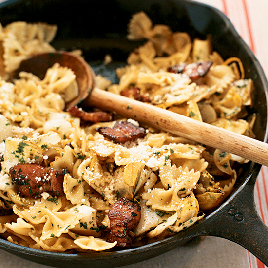 Farfalle with Bacon and Endives